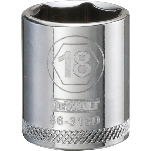 Dewalt DWMT86313OSP Socket, 3/8 In, 18 Mm, 6 Point