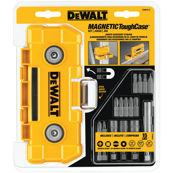 Dewalt DWMTC15 Magnetic Tough Case Set, 15 Pieces