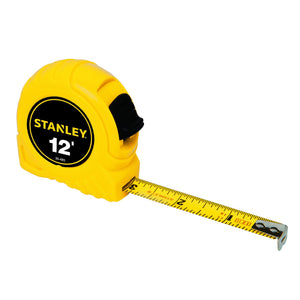 Stanley 30-485 Measuring Tape, 12 Ft L X 1/2 In W, Steel