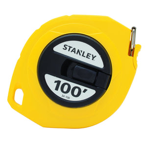 Stanley 34-106 Measuring Tape, 100 Ft L X 3/8 In W, Steel
