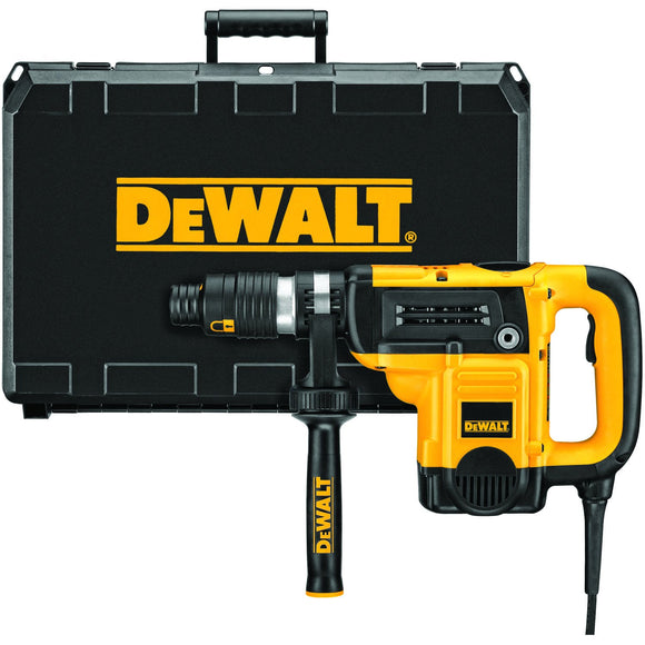 DeWalt D25553K Combination Corded Rotary Hammer Kit, 120 V, 12 A Spline Chuck, 0 - 490 Rpm