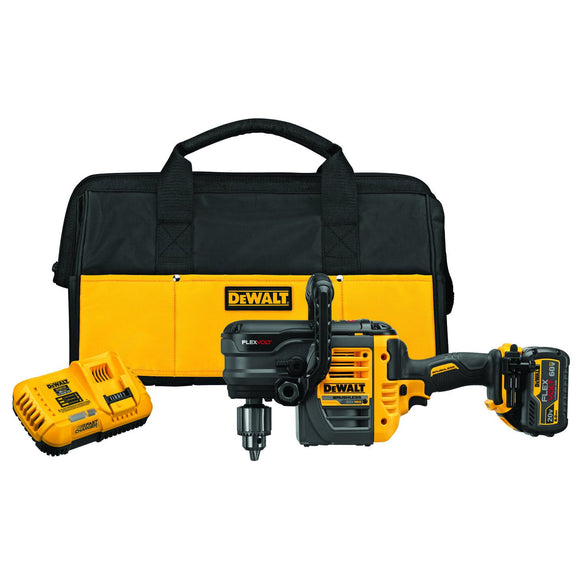Dewalt DCD460T1 Variable Speed Drill Drill Kit, 60 Volt, Lithium-Ion Battery, 1/2 In Keyed Chuck, 2 Speeds, 300/1250 Rpm