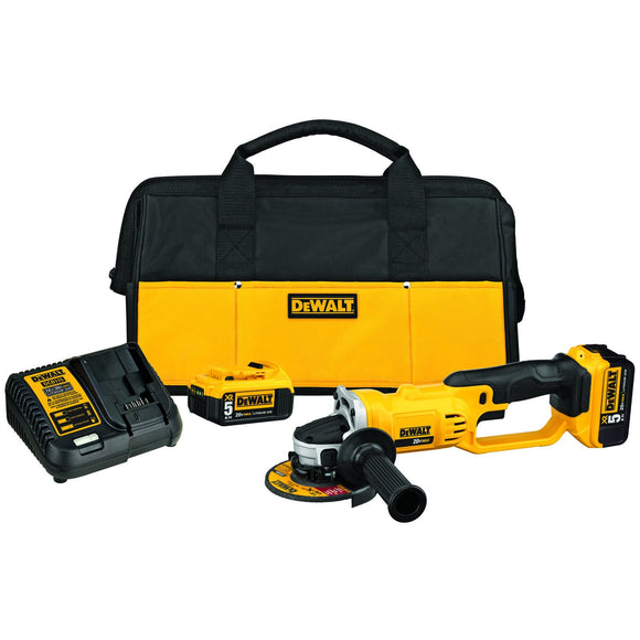 Dewalt DCG412P2 Cordless Grinder Tool Kit, 20 V, Li-Ion, 5.0 Ah, 8000 Rpm, 4-1/2 In Wheel