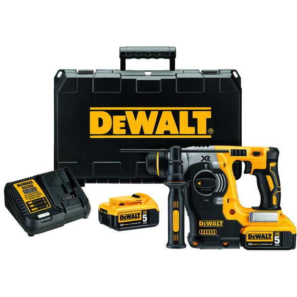 "DeWalt DCH273P2 20V Max Xr Brushless 1"" L-Shape Sds Plus Rotary Hammer Kit"