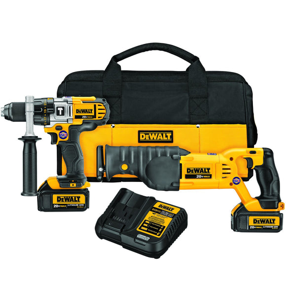 DeWalt DCK292L2 Combo Kit, 7 Pieces, 20 V Li-Ion, 3 Ah