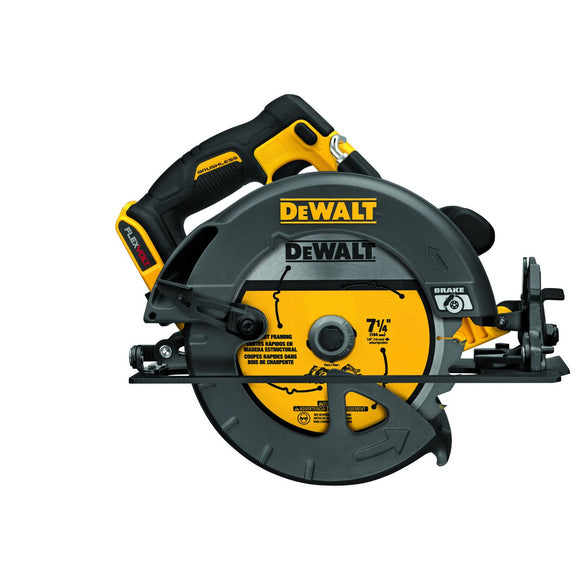 DeWalt DCS575B Cordless, Circular Saw, 2 In, 57 Deg Bevel, Lithium-Ion Battery, 1600 W, 5800 Rpm, 7-1/4 In