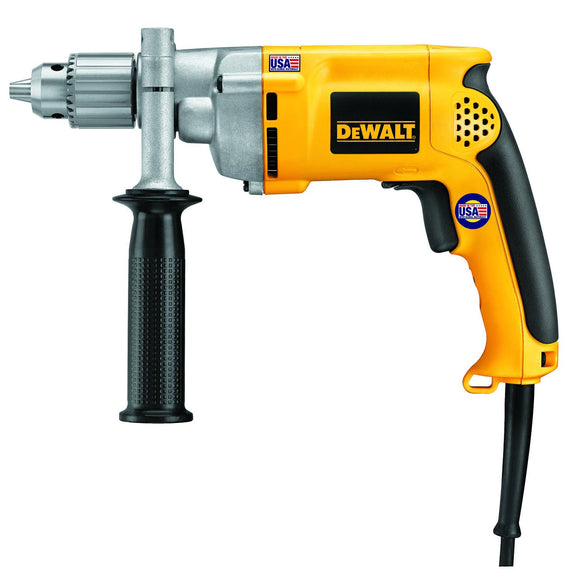 Dewalt DW235G Heavy Duty Corded Drill, 120 V, 8.5 A, 600 W, 1/2 In Keyed Chuck, 0 - 850 Rpm