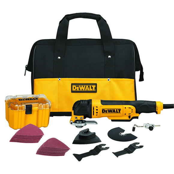 DeWalt DWE315K Oscillating Multi-Tool Kit, 3 A, 0 - 22000 Rpm
