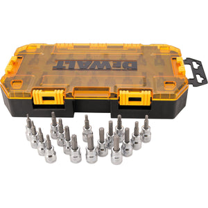 DeWalt DWMT73806 Metric/Sae Socket Set, 17 Pieces, 3/8 In Hex Or Torx Drive