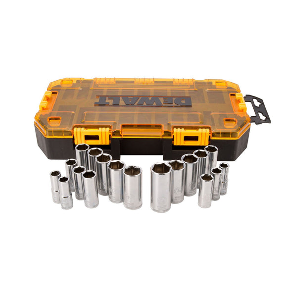 DeWalt DWMT73812 Metric/Sae Socket Set, 20 Pieces, 3/8 In
