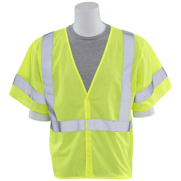 ERB Industries S662 Class 3 Lime Mesh Vest (Sizes: M-3XL) (Colors: Lime or Orange)