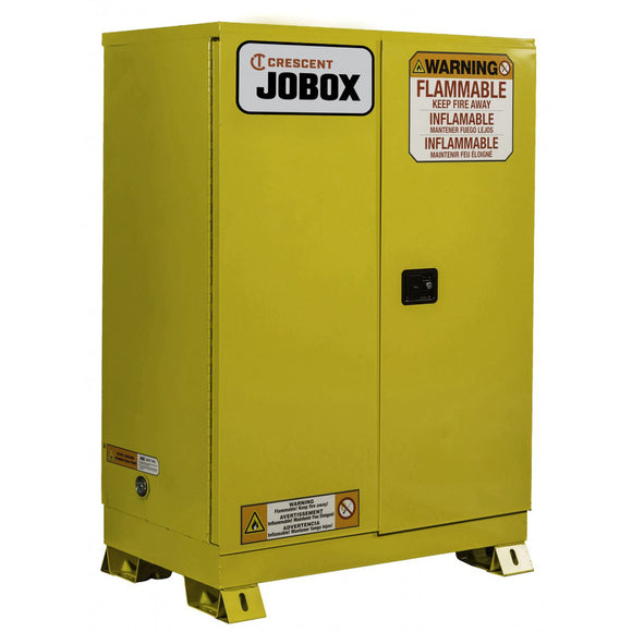 JOBOX 1-750640 12 Gallon Flammable Manual Close Safety Cabinet - Yellow