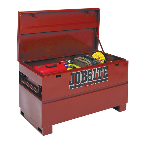 JOBOX 637990 Delta Heavy Duty Jobsite Storage Chest, 15.4 Sq-Ft, 48 In L X 24 In W X 27-1/2 In H, 12 Ga Steel, Brown