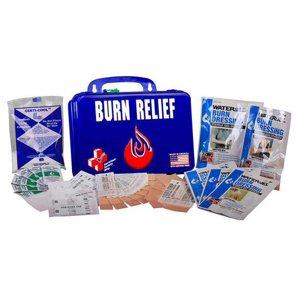 Certified Safety Manufacturing K612-161 Burn First AID Kit 18PN W/ Darragh LOGO