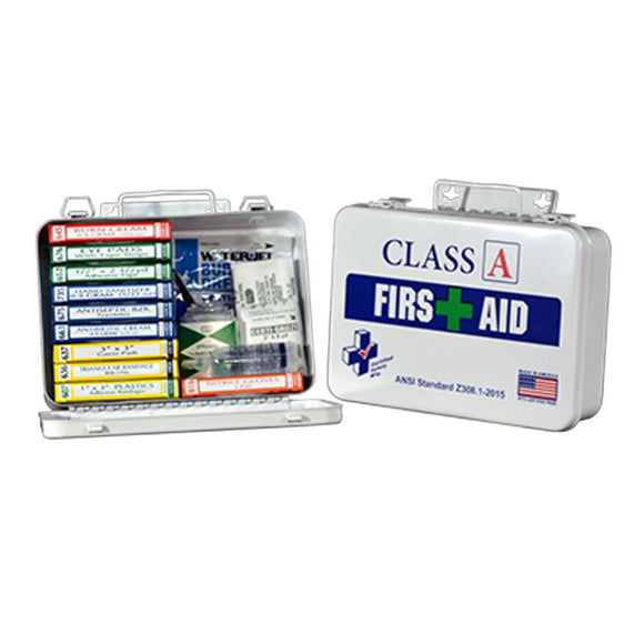 Certified Safety Manufacturing K615-011Plastic First Aid Kit 16PW Class A ANSI Z308.1-2014