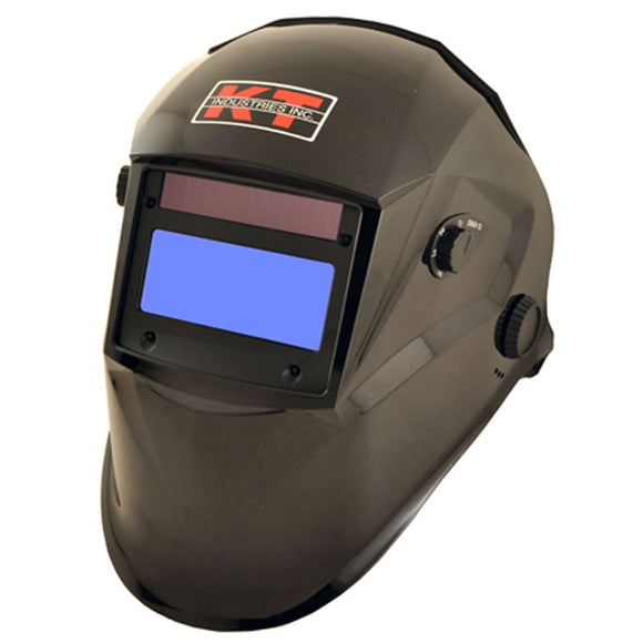 K-T Industries Metallic Black Auto Darkening Helmet