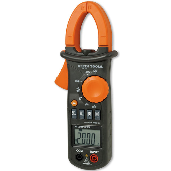 Klein Tools CL110-CL100 Digital Clamp Meter, AC Auto-Ranging 400 Amp