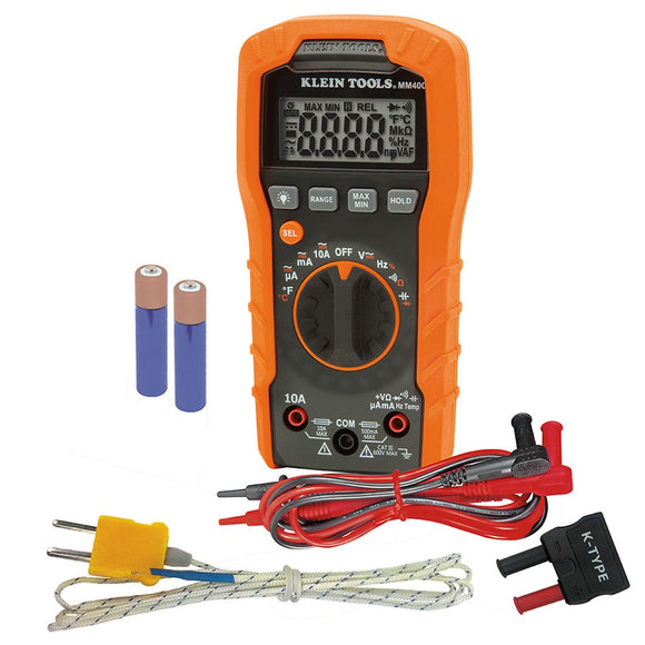 Digital Multimeter, Auto-Ranging, 600V