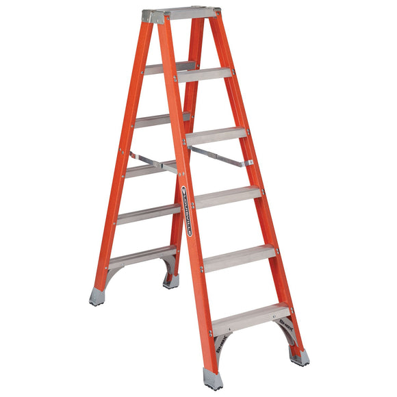 Louisville Ladder FM1506 Ladder Twin Step Fibergls 6Ft