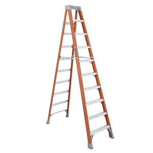 Louisville Ladder FS1510 Extra Heavy Duty Step Ladder, 300 Lb, 3 In Non-Conductive Rail