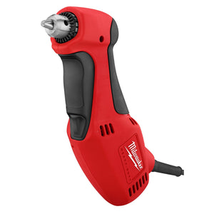 Milwaukee 0370-20 Right Angle Close Quarter Corded Drill, 120 V, 3.5 A, 3/8 In Keyed Chuck