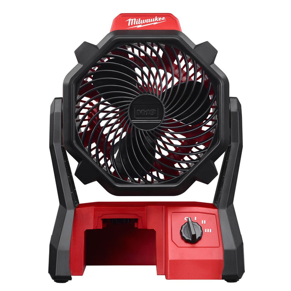 M18 0886-20 Portable Jobsite Fan With Ac Adaptor, 284 Cfm, Red