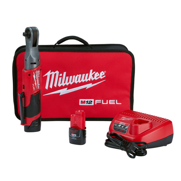 Milwaukee 2557-22 M12™ FUEL™ 3/8 in. Ratchet 2 Battery Kit