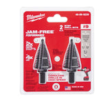 Milwaukee 48-89-9239 Step Drill Bit, 7/8 - 1-1/8 Hole In, 9 Steps, 2 Flutes, 1/4 In 3-Flat