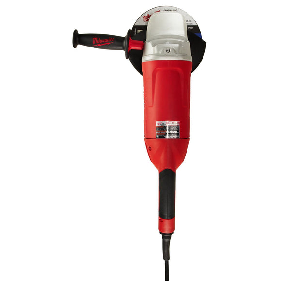 Milwaukee 6088-30 Large Corded Angle Grinder With Lock On Switch, 120 Vac/Vdc, 15 A, 3130 W