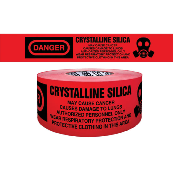 NMC PT70-2ML Danger Crystalline Silica Barricade Tape 3