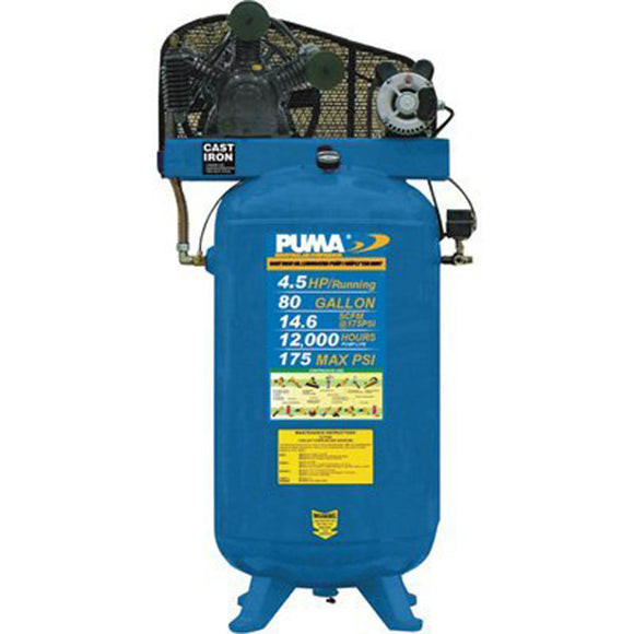 Puma Industries TE6580V Belt-Drive Stationary Vertical Air Compressor