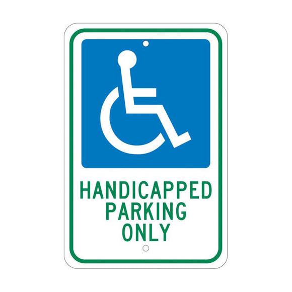 NMC TM145J Handicapped Parking Only Sign 18