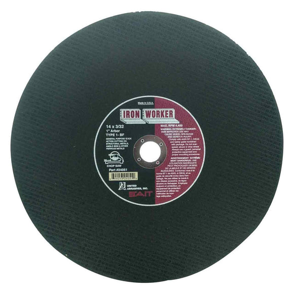 United Abrasives 24039 Sait Chop Saw Wheel 14