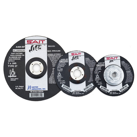 United Abrasives 22345 A46N Aluminum Cutting Wheel