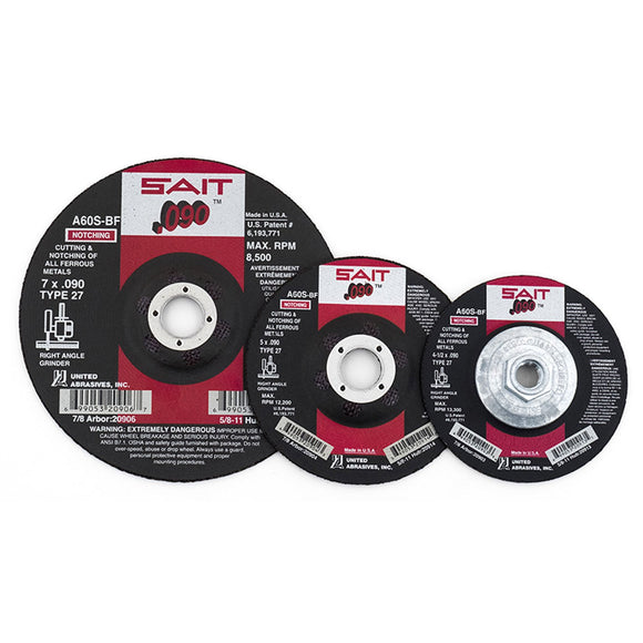 United Abrasives 20913 A60S Cutting Wheel