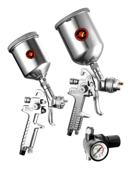 Performance Tool M503 2-Pc Hvlp Gravity Feed Spray Gun Set
