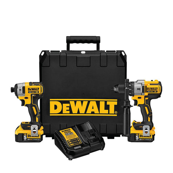 DeWalt DCK299P2 Premium Cordless Hammerdrill And Impact Driver Combo Kit