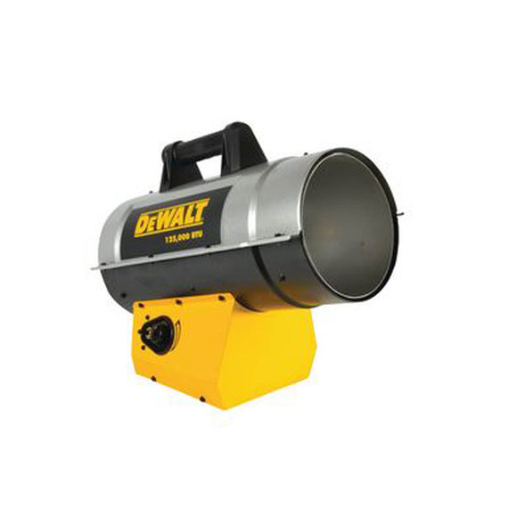 DeWalt DXH125FAV 125,000 BTU/HR FORCED AIR PROPANE HEATER