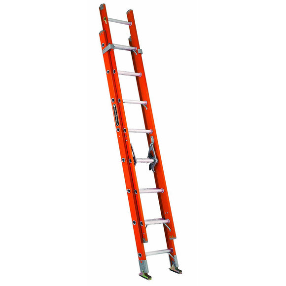 Louisville Fe3200 2-Section Heavy Duty Extension Ladder, 300 Lb, 1.626 In, 3-1/4 In