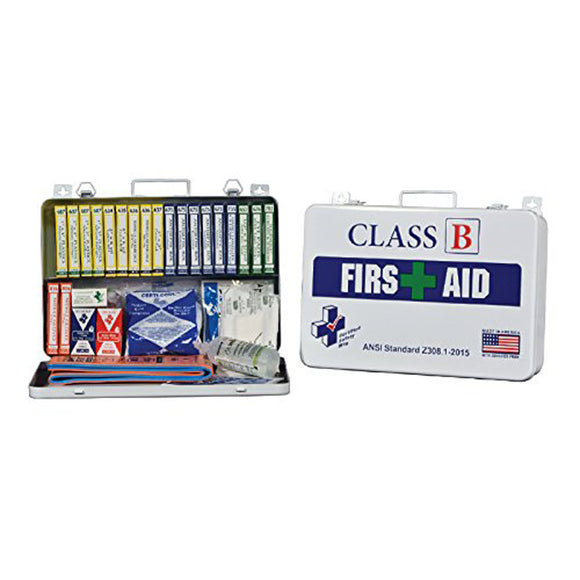Certified Safety Manufacturing K615-017 36PW Plastic First AID Kit Class B ANSI Z308-1-2014