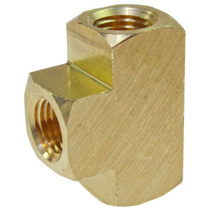 "Coilhose Pneumatics T004-DL Tee, 1/4"" FPT Brass Pipe Fitting, Display"