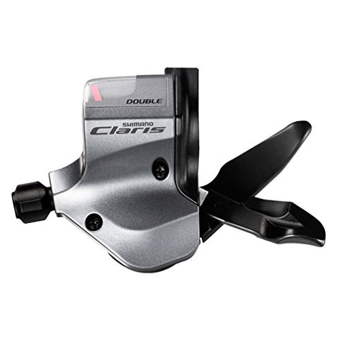 Shimano SL-2400 Claris Flat Bar Road 2x8-Speed Shifter Set, Silver