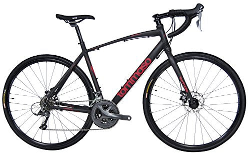 Tommaso Sentiero Shimano Claris R2000 Gravel Adventure Bike With Disc Brakes Perfect For Road Or Dirt Trail Touring, Matte Black - Extra Large