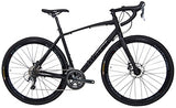 Tommaso Illimitate Shimano Tiagra Gravel Adventure Bike With Disc Brakes And Carbon Fork Perfect For Road Or Dirt Trail Touring, Matte Black - Medium