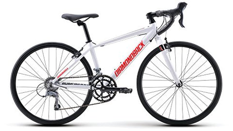 Diamondback Bicycles 2015 Podium 24 Complete Youth Road Bike, 24-Inch wheels/One Size, White