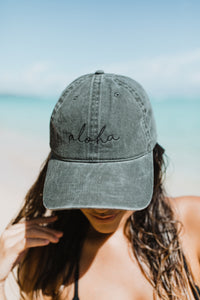 Aloha Hat in Charcoal Grey
