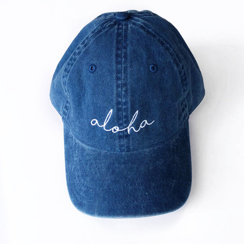 Aloha Hat in Navy