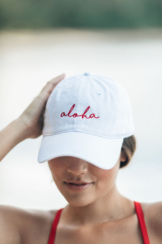 Aloha Hat in White