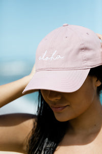 Aloha Hat in Dusty Rose