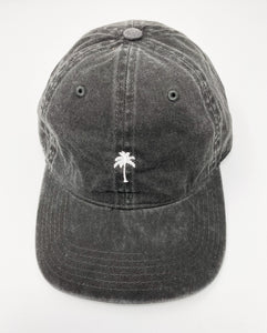 Lone Palm Dad Cap in Charcoal